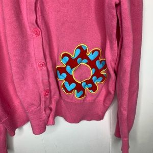 Hanna Andersson Shirts & Tops - Hanna Andersson Pink Cardigan Flower 130/7
